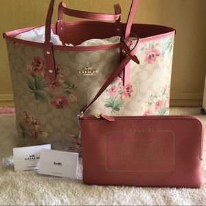 NEW Coach Lily Print Reversible Coty Tote Bag